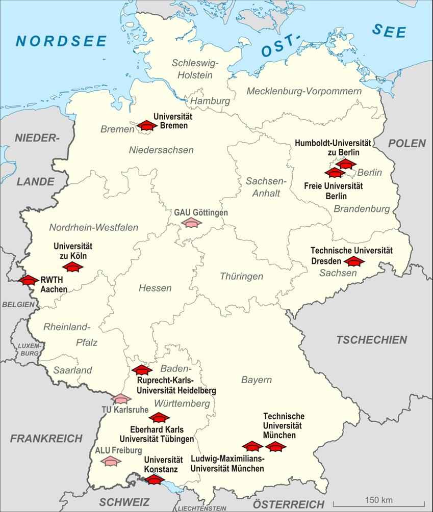 Top 10 Unis Deutschland